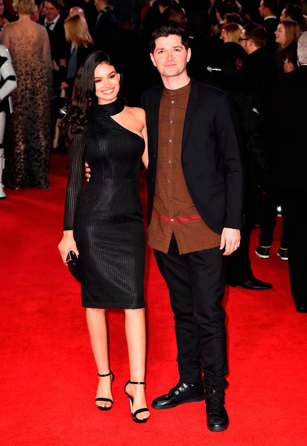 Danny O'Donoghue and girlfriend Anne De Paula at the European premiere of Star Wars: The Last Jedi held at The Royal Albert Hall, London