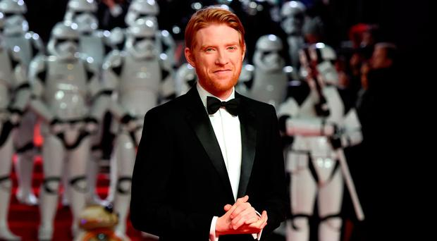 Actor Domhnall Gleeson attends the European Premiere of 'Star Wars: The Last Jedi' at Royal Albert Hall on December 12, 2017 in London, England. (Photo by Stuart C. Wilson/Getty Images)