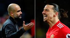 Pep Guardiola and Zlatan Ibrahimovic