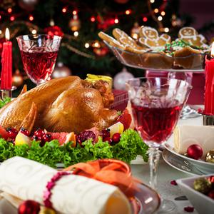 The Christmas banquet. Image: Getty
