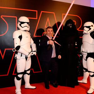 Kevin 'Boxer' Moran T.D. arrives for the Irish premiere of Star Wars: The Last Jedi. Savoy Cinema, O'Connell Street, Dublin. Picture: Caroline Quinn