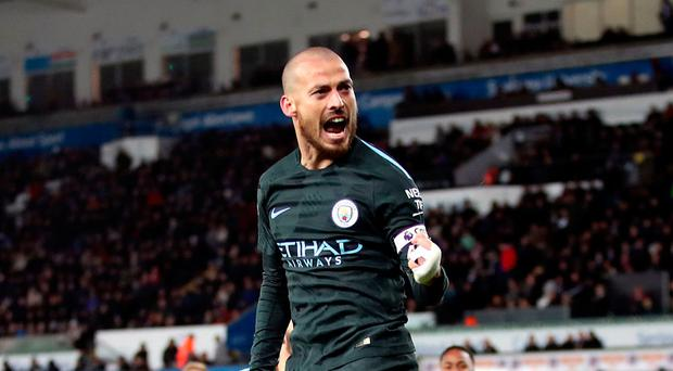 Silva doubles up as City make more sweet music