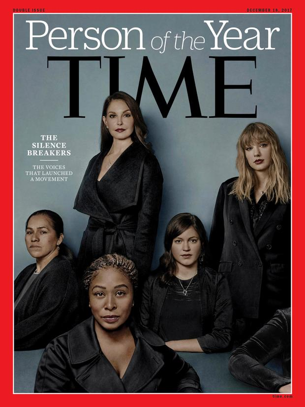 Time awarded Person of the Year to those who shared their stories of sexual harassment. Photo: AP