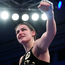 Katie Taylor celebrates last night's victory. Photo: Sportsfile