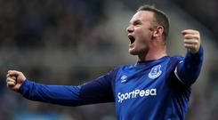 Wayne Rooney can't hide his delight at scoring. Photo: Reuters