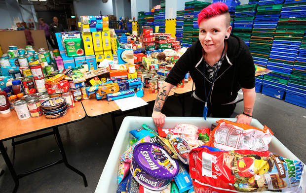 SVP warehouse co-ordinator Maria Burns with some of the donated food
