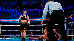 Katie Taylor, left, and Jessica McCaskill