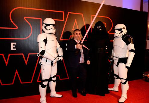 13 Dec 2017; Kevin 'Boxer' Moran T.D. arrives for the Irish premiere of Star Wars: The Las Jedi. Savoy Cinema, O'Connell Street, Dublin. Picture: Caroline Quinn