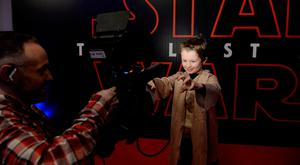 13 Dec 2017; Boon Redmond, 9, from Stepaside, poses for camera as he arrives for the Irish premiere of Star Wars: The Las Jedi. Savoy Cinema, O'Connell Street, Dublin. Picture: Caroline Quinn