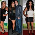 (L to R) Brian Ormond and Pippa O'Connor, Rosanna Davison and Ken Egan, Georgia Penna and Roz Purcell at Christmas parties of days gone by