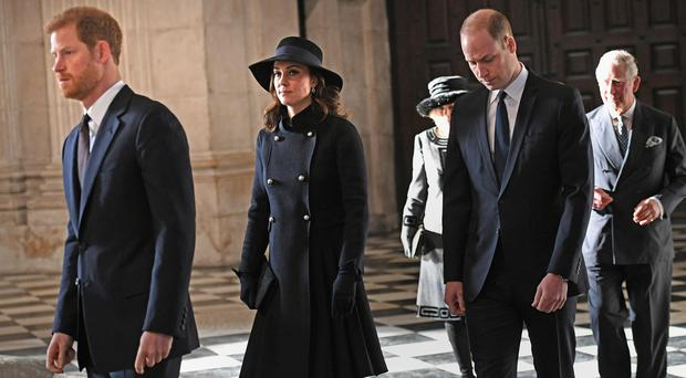 Prince William, Prince Harry and Kate Middleton join families and survivors at Grenfell memorial service