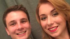 Aisling Brady (26) pictured with her boyfriend Kristian Mansfield