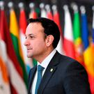 Leo Varadkar arrives to attend the first day of a European union summit in Brussels earlier this week. Photo: Getty Images