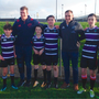 Chris Farrell and Tommy O'Donnell with students from Thomond Community College