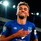 Everton forward Dominic Calvert-Lewin has signed a new long-term deal with the club. Photo: Anthony Devlin/PA