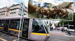 Cycling campaigners in the capital have claimed the newly laid Luas Cross City tracks have led to a spike in accidents among cyclists, leading in some cases to serious injuries.