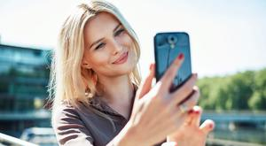 Selfiti is the obsessive talking of selfies. Stock picture