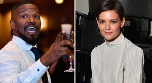 Jamie Foxx, left, and Katie Holmes, right