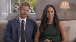 Prince Harry and Meghan Markle during their BBC engagement interview
