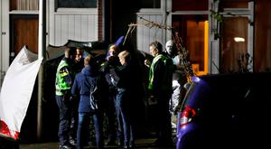 Police officers investigate the crime site in the Botsaartstraat in Maastricht, the Netherlands, after two stabbing took place within a few hundred metres of each other on December 14, 2017. / AFP PHOTO / ANP / Marcel van Hoorn / Getty Images