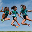 Girls from Mount Anville Secondary School celebrate after they won the Junior Girls Relay during the Irish Life Health Leinster Schools Track and Field Championship in May. Photo: Sportsfile