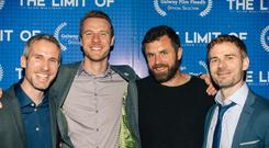 Paul Mulligan, Anthony Mulligan, Mick Flannery, Alan Mulligan pictured at the Galway Film Fleadh (picture courtesy of Alan Mulligan)