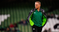 Joe Schmidt played his part in last weekend's European 'green sweep' by the provinces. Photo by Brendan Moran/Sportsfile