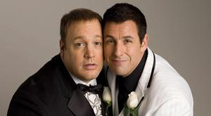 Kevin James and Adam Sandler in I Now Pronounce You Chuck & Larry