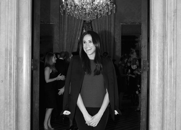 NEW YORK, NY - OCTOBER 01: (EDITORS NOTE: Image has been converted to black and white.) Meghan Markle attends RELAIS & CHATEAUX 60th Anniversary Guest Chef Dinner Launch at Consulate General of France on October 1, 2014 in New York City. (Photo by Bryan Bedder/Getty Images for Relais & Chateaux)
