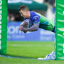 16 December 2017; Matt Healy of Connacht scores his side's third try during the European Rugby Challenge Cup Pool 5 Round 4 match between Connacht and Brive at the Sportsground in Galway. Photo by Matt Browne/Sportsfile