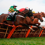 My Tent or Yours and Barry Geraghty jump the last before going on to win at Cheltenham yesterday. Photo: Adam Davy/PA