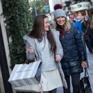 HAPPY RETURNS: Shoppers out yesterday on Dublin's Grafton Street. Photo: Fergal Phillips
