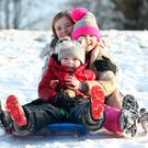 The picture in the Sunday Independent of three youngsters in their element in the snow was typical of the scenes of our youth, when we always seemed to have snow for the festive season. Photo: Matt Mackey/Presseye.com