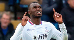 Crystal Palace's Christian Benteke celebrates scoring his first goal for seven months. Photo: PA