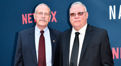 Mission: Steve Murphy and Javier Pena led the hunt for drug baron Pablo Escobar before his death in 1993. Photo: Rob Latour/REX/Shutterstock