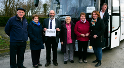 Belfast bound: Danny Healy-Rae, pictured in Killarney, heading north with patients to have cataracts removed.