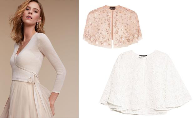 Wedding Dress Cover Up.Bridal Fashion Chic Cover Ups To Keep You Warm On Your