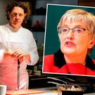 Popular show: 'The Restaurant' is filmed in Marco Pierre White's restaurant. Photo: David Conachy. Inset: Minister Katherine Zappone