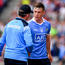27 August 2017; Dublin manager Jim Gavin with Con O'Callaghan of Dublin after he was substituted late on during the GAA Football All-Ireland Senior Championship Semi-Final match between Dublin and Tyrone at Croke Park in Dublin. Photo by Brendan Moran/Sportsfile