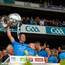 20 September 2015; Denis Bastick, Dublin, lifts the Sam Maguire after the game. GAA Football All-Ireland Senior Championship Final, Dublin v Kerry, Croke Park, Dublin. Picture credit: Ray McManus / SPORTSFILE