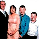 Alan and Clodagh, with Liam, Niall and Ryan