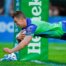 Connacht's Matt Healy touching down for his fourth try against Brive Photo: Matt Browne/Sportsfile