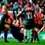 Graham Kitchener falls head-first at Welford Road Photo: Brendan Moran/Sportsfile