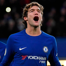 Chelsea's Marcos Alonso. Photo: Reuters/Toby Melville