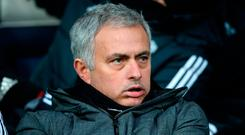 Manchester United manager Jose Mourinho was in no mood to celebrate at the Hawthorns on Sunday Photo: Nick Potts/PA Wire