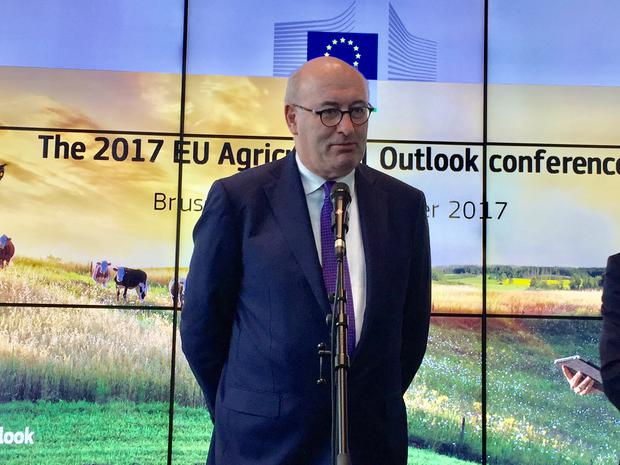 EU Agriculture Commissioner Phil Hogan at the EU 2017 Agriculture Outlook Conference in Brussels.