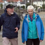 Sean and Jane Mullen go for a walk in Sandycove, Dublin. Photo: HSE