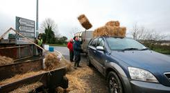 Farmers stocking up on fodder at the Drumshanbo Horse Fair, Co Leitrim last weekend. Photo Brian Farrell