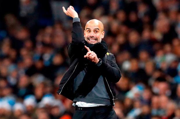 Pep Guardiola's vision is beginning to become a reality at Manchester City. Photo: PA