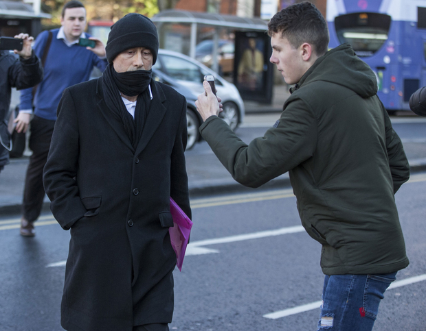 Kieran Creaven is filmed by a member of the Predator Exposure group arriving at court. Photo: Mark Condren/Independent News & Media